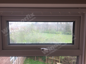 misted double glazed window before repair