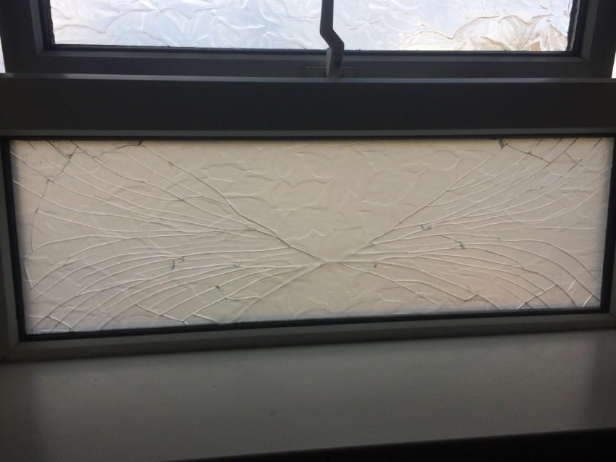 Doubl Glazing Implosion